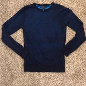Forever 21 mens 2 tone blue sweater